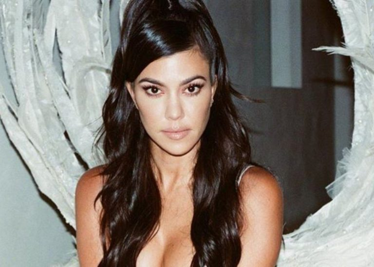 Kourtney Kardashian Puts On A Cheeky Display In Two Piece Swimsuit — See The Photos