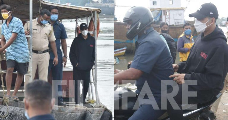 Pictures: Akshay Kumar clicked travelling through a jetty