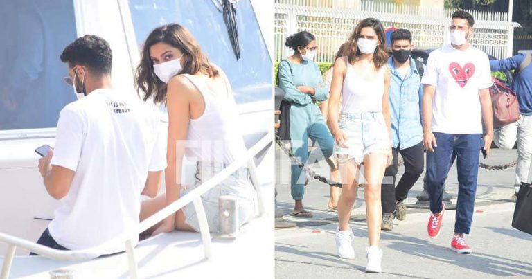 Photos: Deepika Padukone and Siddhant Chaturvedi spotted together
