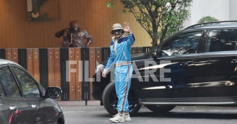 Ranveer Singh heads to YRF studios to celebrate a decade in Bollywood