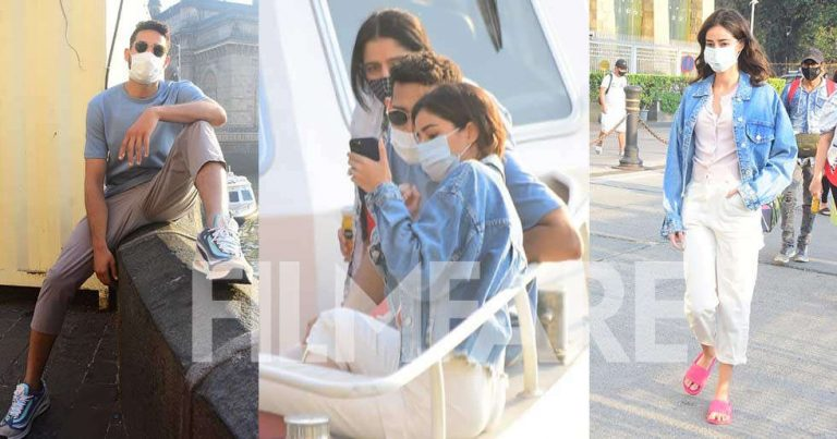 Photos: Ananya Panday and Siddhant Chaturvedi snapped leaving for Alibaug