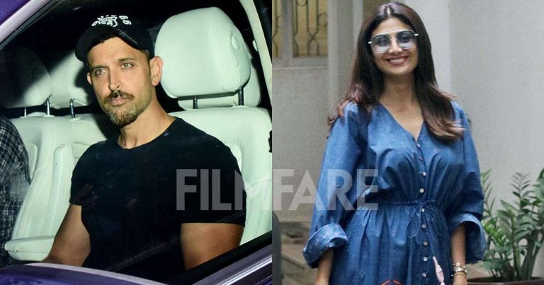 Pictures: Hrithik Roshan and Shilpa Shetty Kundra snapped out and about in the city