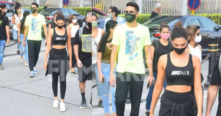Deepika Padukone and Siddhant Chaturvedi head for another day of shoot at Alibag