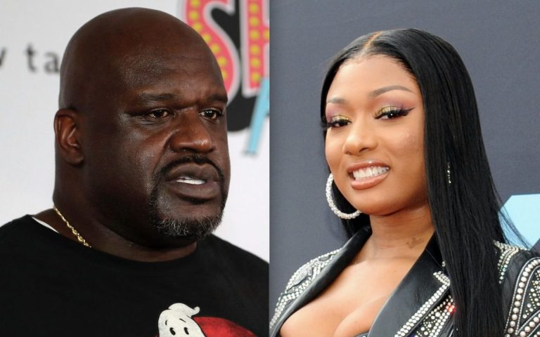 Shaquille O'Neal Flirts With Megan Thee Stallion And His Son Has A Hilarious Reaction!