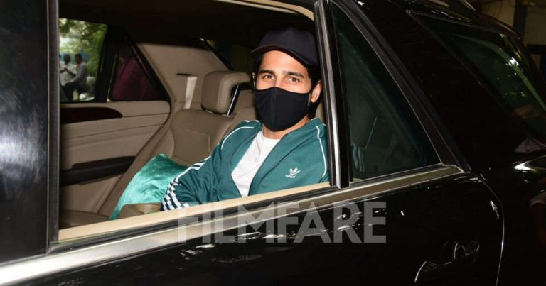 Pictures: Sidharth Malhotra steps out for a dubbing session