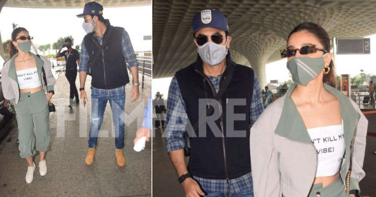 Photos: Ranbir Kapoor and Alia Bhatt clicked together at the airport