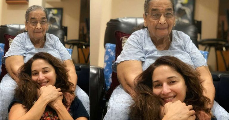 This picture of Madhuri Dixit Nene with her mother adorable